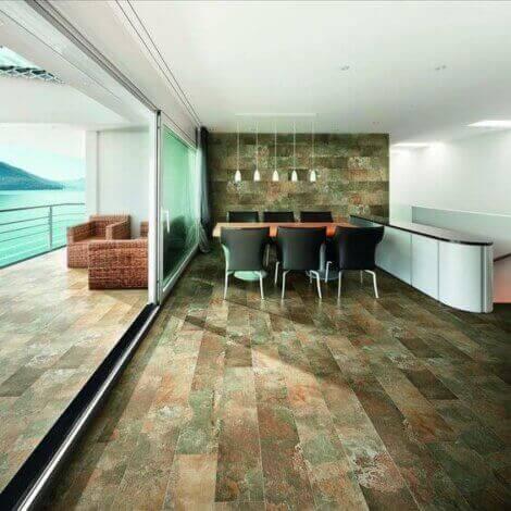 바닥을 위한 유색 세라믹 이미지