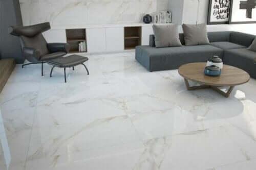 바닥을 위한 유색 세라믹: 대리석 이미지