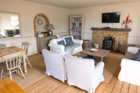 영국풍 컨트리 하우스를 위한 데코 이미지
