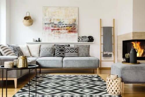 실내 벽을 아름답게 꾸미는 소품의 예술