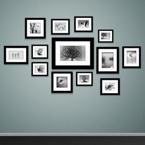 Fotolijsten met foto's in collage