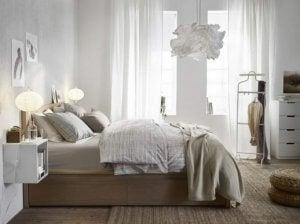 Het is belangrijk om in de slaapkamer de visuele continuïteit te behouden