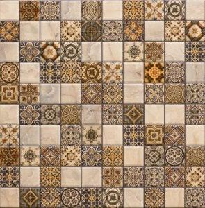 Hydraulische tegels in een patroon gelegd