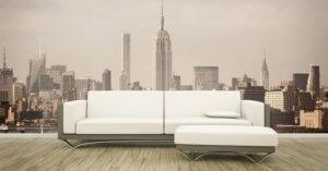 Aparte en stijlvolle muren voor je huis met een realistische muurfoto