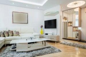 Strakke vormen en lijnen in je design woonkamer