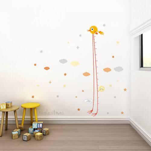 Kindertekeningen als wanddecoratie