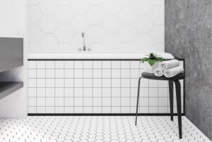 Badkamer veranderen met porseleinen tegels
