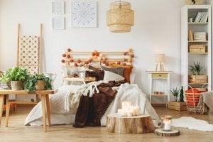 Een rustieke slaapkamer