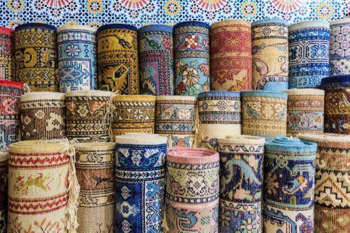 Vloerkleed of tapijtwerk als quilt