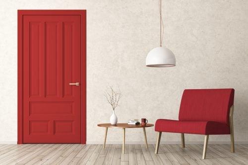 Binnendeuren met een spaanplaat kern