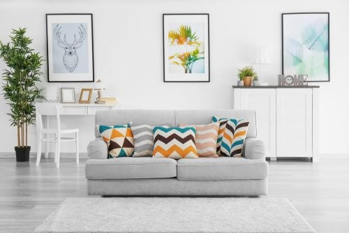 Frisse lichte kleuren voor de wanden en de meubels