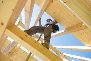 Prefab houten dak