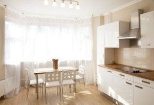 Het mooiste keukengordijn witte vitrages