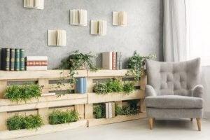 Je eigen leeshoekje stoel met plantjes