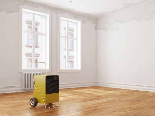 Verven in een lege schone kamer is ideaal