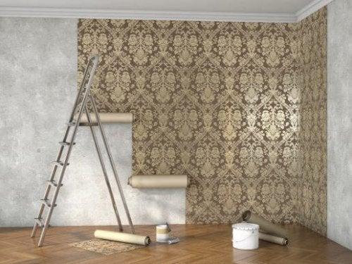 Behang met textuur is helemaal in op dit moment