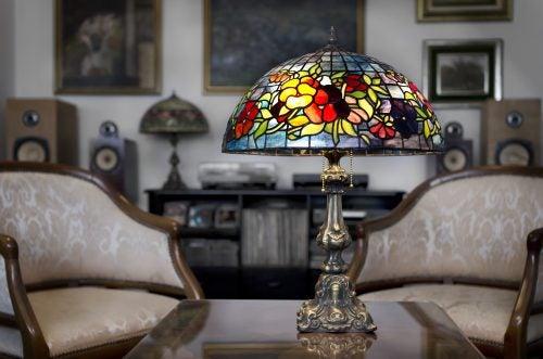 Maak je eigen Tiffany lamp
