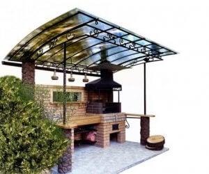 Een gefixeerde barbecueplek in de achtertuin