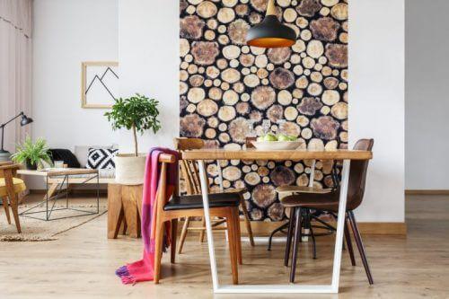 Behang met houtpatronen