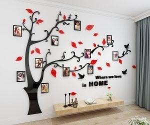 Decoratieve stickers in vorm van boom boom met fotolijstjes