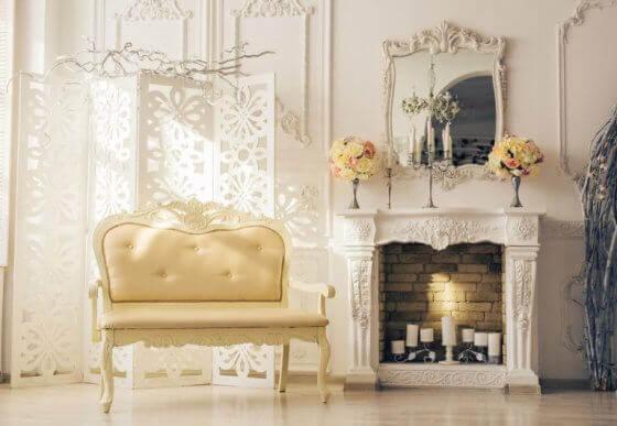 Combineer deze stijl met spiegels en lijstwerken