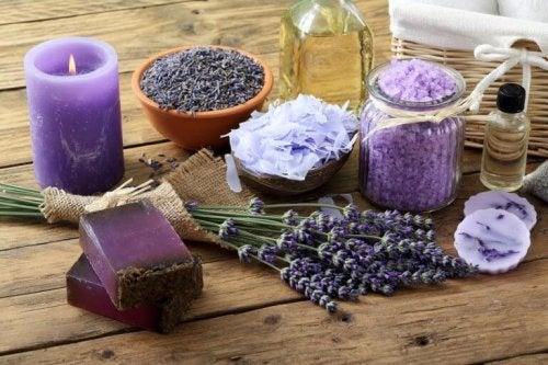 Lavendel accessoires zorgen voor een goede ambiance