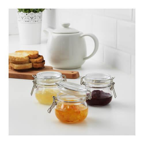 Glazen potjes uit het IKEA assortiment voor in je keuken