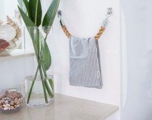 Handdoekrekken gemaakt van touw