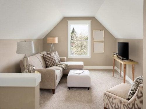 De indeling van een klein huis is fundamenteel