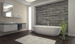 natuursteen voor binnenmuren in de badkamer