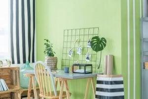 oker en groen gebruiken in je kamers