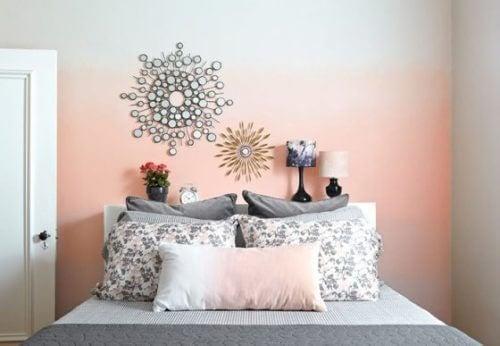 Geef wat pit aan je kamers en verf je muren met het ombre-effect