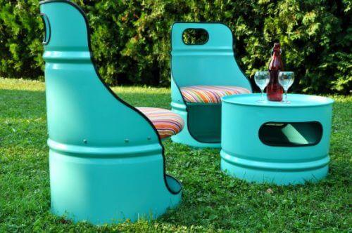 Recyclen van objecten die je niet gebruikt voor decoratie