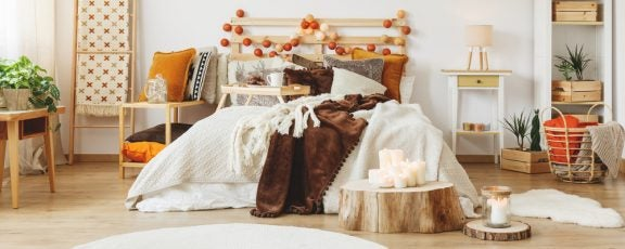 Slaapkamer in winterkleuren