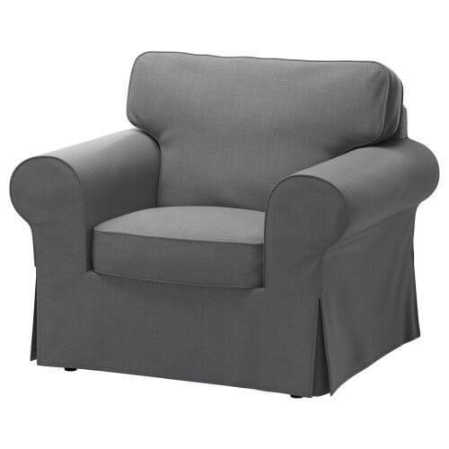 Grijze fauteuil uit de catalogu van IKEA