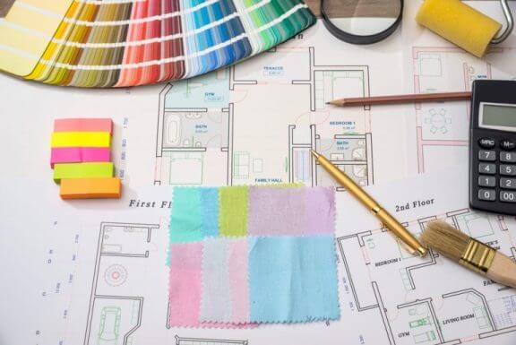 Plattegrond van je huis en kleurenschema