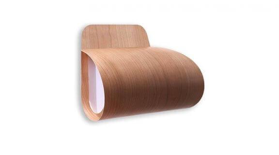 Wandlamp van houtfineer