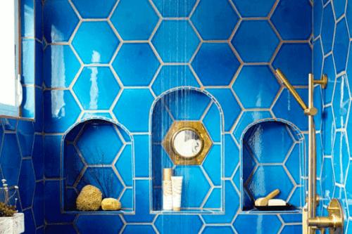 Decoreren met tegels in een ruitvorm