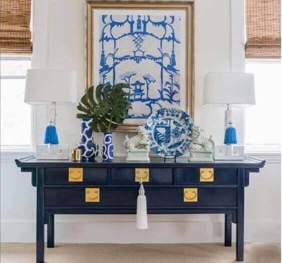 Blauwe decoraties