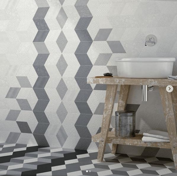 Badkamer met mozaïektegels
