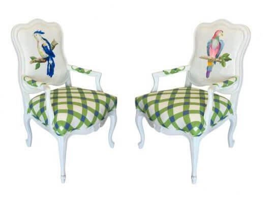 Dana Gibson stoelen met vogels