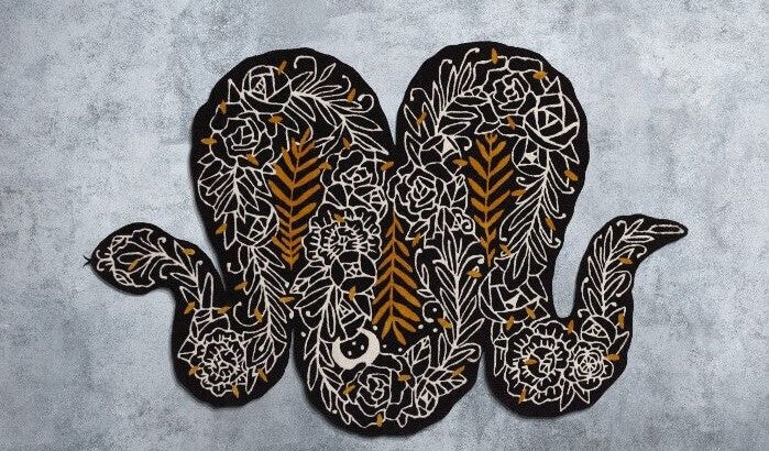 Kleed in de vorm van een slang