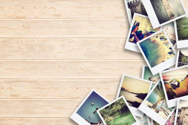Stapel met foto's
