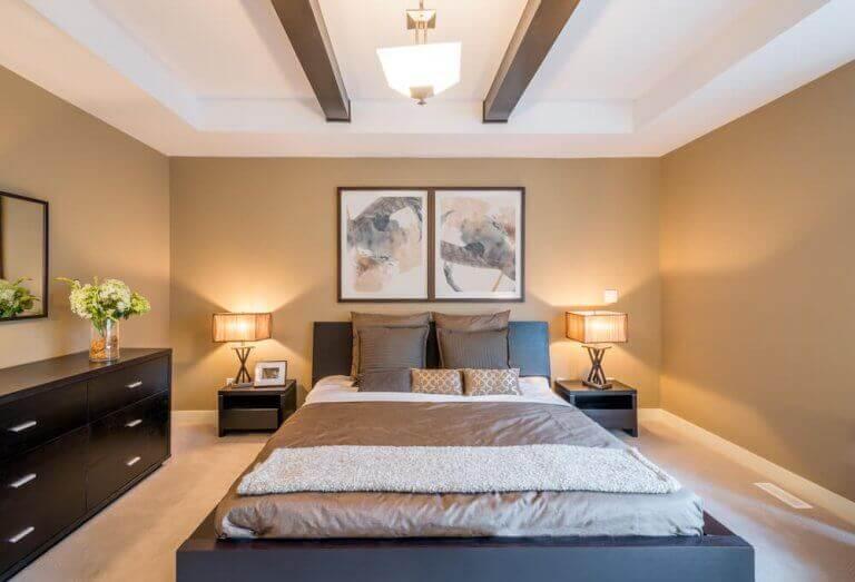 Slaapkamer met feng shui