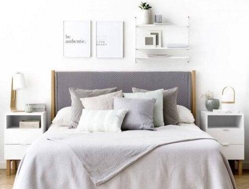 Modern slaapkamerdecor