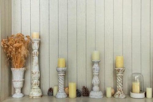 2 eenvoudige houten kaarsenhouders om zelf te maken
