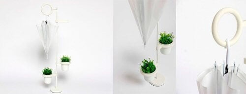 Milieuvriendelijke parapluhouders
