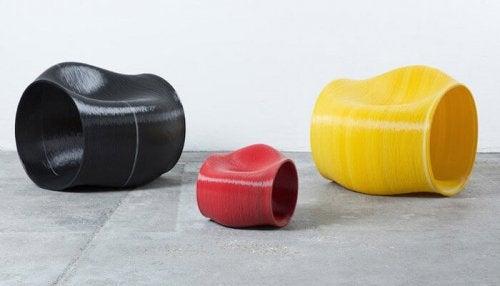 Originele in 3D-geprinte meubels voor in je huis