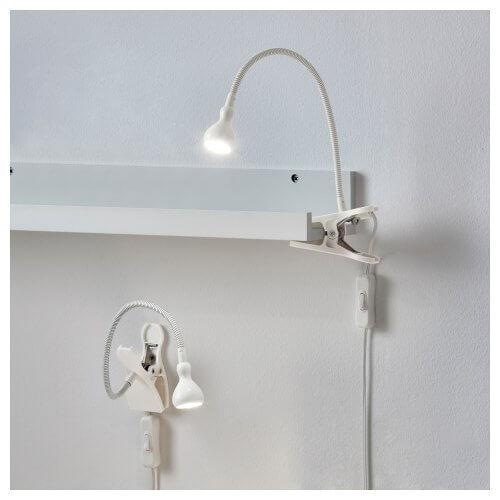 Lamp met een clip