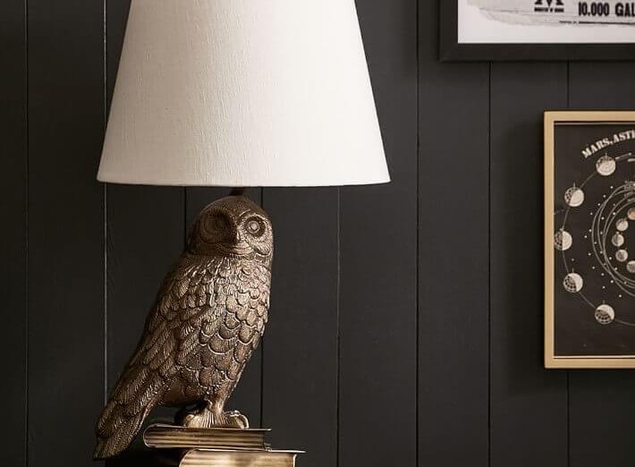 Lamp met de uil van Harry Potter